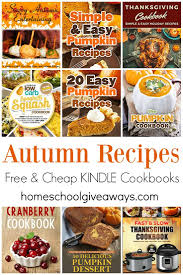 12 free and cheap kindle cookbooks for fall