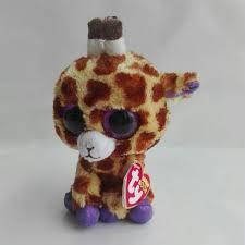 safari giraffe ty beanie boos 1pc 15cm big eye stuffed toys