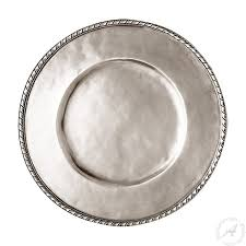 pewter platter charger plate pewter platter handmade in italy thatsarte