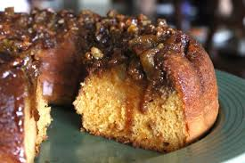 upside down apple butterscotch bundt cake