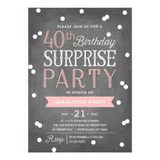 40th birthday invitations u0026 announcements zazzle