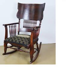 Antique Spindle Rocking Chair Vintage Wisconsin Chair Company Rocking Chair Ebth