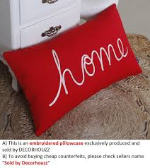 Red Decorative Pillow How To Mix Red Decorative Pillows