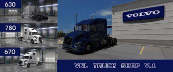 new volvo vnl volvo vnl truck shop v1 mod american truck simulator mod ats mod