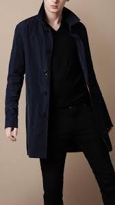 burberry brit short packaway nylon trench coat in blue for men lyst