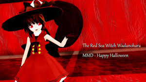 the red sea witch wadanohara mmd happy halloween youtube