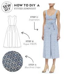 jumpsuit stitching pattern diy outfit fitted jumpsuit sew diy