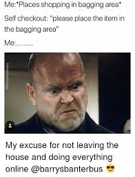 Self Checkout Meme - me places shopping in bagging area self checkout please place the
