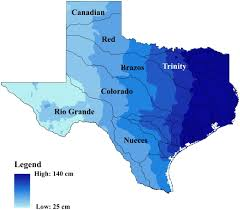 Isoline Map Definition Hydrologic Drought Atlas For Texas Journal Of Hydrologic