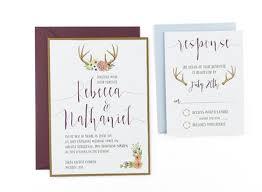 watercolor wedding invitations woodland watercolor wedding invitation template