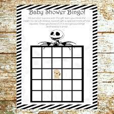 nightmare before christmas baby shower baby shower bingo the nightmare before christmas baby