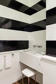 Striped Bathroom Walls Black And White Striped Walls Contemporary Bathroom Chambers