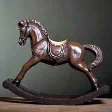 Horse Bridle Decorations Rocking Horse Ornaments Regal Rocking Horse Premium Gl Ornament