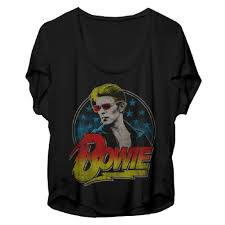 david bowie red shades photo womens dolman t shirt