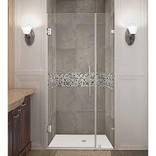28 Shower Door Aston Nautis 28 In X 72 In Frameless Hinged Shower Door In