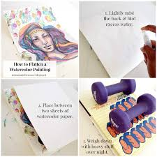 miss danielle renee how to flatten a watercolor painting