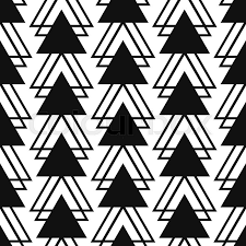 simple triangle shape black and white seamless pattern vector