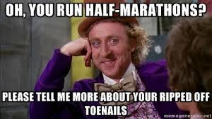 Running Marathon Meme - half marathon training week 6 running on coffee