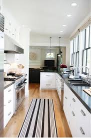 kitchen idea long narrow kitchen design with window over sink