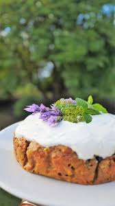 healthy carrot cake with coconut yoghurt icing u2014 natalie brady