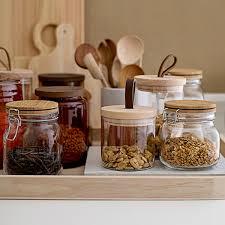 bocaux cuisine bocal de conservation en verre et bambou bloomingville decoclico