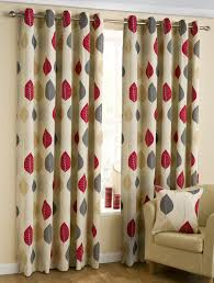 Debenhams Curtains Ready Made Homely Ideas Ready Made Curtains Design Modern Leaf Red Eyelet