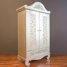 White Vintage Armoire Chelsea Armoire In Antique Silver By Bratt Decor