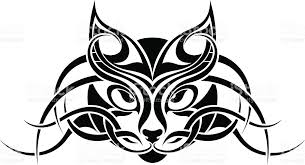cat tribal tattoo design stock vector art 163823269 istock