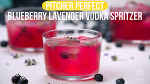 lavender cocktail perfect pitcher drink recipe blueberry lavender vodka spritzer