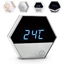 horloge bureau multifunctionele led spiegel wekker elektronische tafel klok nixie