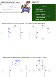 Parallel Circuit Problems Worksheet Resistance Archives Regents Physics
