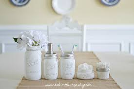 Full Bathroom Sets by Mason Jar Bathroom Set White Ball Mason Jars Rustic Home