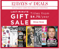 last minute gifts magazine subscription sale