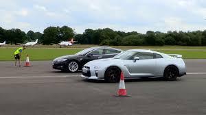 nissan gtr top gear tesla model s p90d vs nissan gt r top gear drag races speed