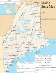 A Map Of Usa by Maine State Map A Large Detailed Map Of Maine State Usa