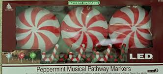 battery operated candy cane lights solar powered candy cane lights tuneful pathway markers candy