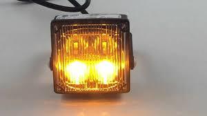 ecco led offroad lights ecco vigiled2 ed0001a amber led warning light youtube