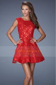 Red And Black Party Dresses Red Lace Cocktail Dress 2017 2018 B2b Fashion