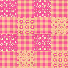 seamless patchwork pattern pink stock vector colourbox
