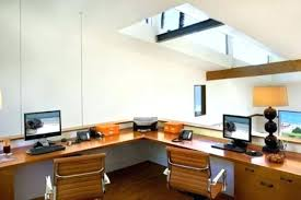 Home Office With Two Desks Home Office Desks For Two 2 Person Desk For Home