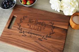 engravable cutting boards personalized wood cutting board with floral wreath