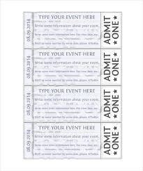 doc 500231 printable event tickets u2013 free printable event ticket
