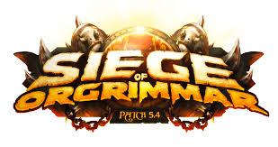 Patch 5 4 Siege Image Patch 5 4 Siege Of Orgrimmar Logo From Trailer Png