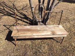 Bench Made From Bed Headboard Barn Wood Headboard Bench Made From A Metal Head Board And Foot