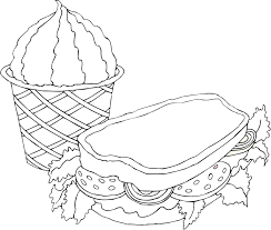 sandwich coloring pages amazing with sandwich coloring pages