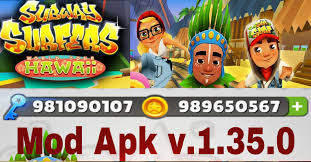 subway surfer mod apk subway surfers hawaii hack mod apk v 1 35 0