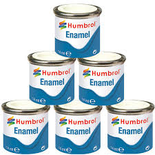 humbrol 6 x enamel model paint 14ml choose your colours model