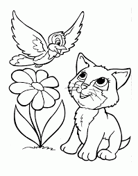 puppy and kitten coloring pages puppy kitten coloring pages