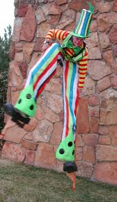 clown stilts stretch s lair