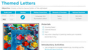themed letters themed letters free lesson plan the of ed